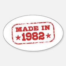 Made In 1982 Sticker (Oval)