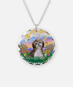 Guardian-ShihTzu#2 Necklace Circle Charm