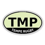 TMP Rugby Oval Sticker (Oval 50 pk)