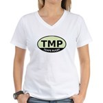 TMP Rugby Oval Women's V-Neck T-Shirt