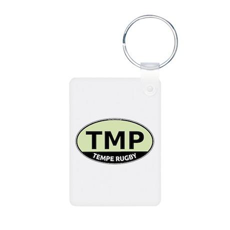 TMP Rugby Oval Aluminum Photo Keychain