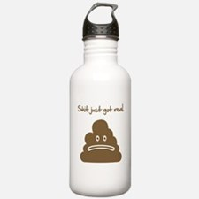 Shit just got real. Sports Water Bottle
