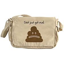 Shit just got real. Messenger Bag