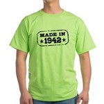 Made In 1942 Green T-Shirt