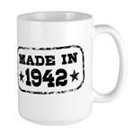 Made In 1942 Large Mug