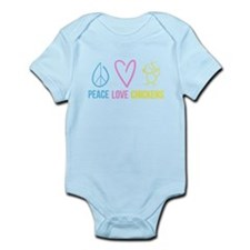 peace, love, chickens Infant Bodysuit