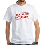 Made In 1942 White T-Shirt