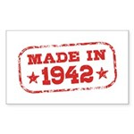 Made In 1942 Sticker (Rectangle)