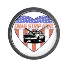 Drag Strip Grrl Wall Clock