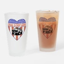 Drag Strip Grrl Drinking Glass