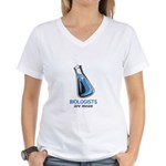 Biologists are Mean Women's V-Neck T-Shirt