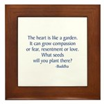 Buddha Quote Framed Tile
