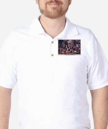 Christ and the Adultress Golf Shirt