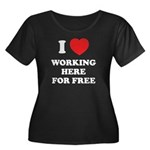 Working Here For Free Women's Plus Size Scoop Neck