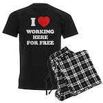 Working Here For Free Men's Dark Pajamas