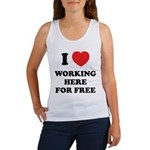 Working Here For Free Women's Tank Top