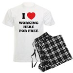 Working Here For Free Men's Light Pajamas