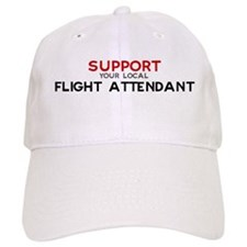 Support: FLIGHT ATTENDANT Baseball Cap
