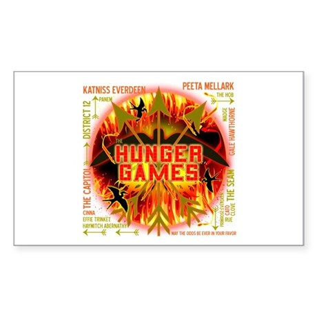 Hunger Games Collective Sticker (Rectangle 10 pk)