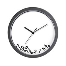 Numbers Fell White Wall Clock
