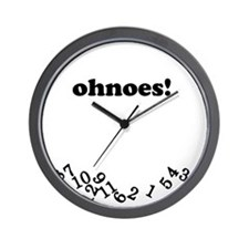 ohnoes White Wall Clock