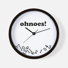 ohnoes White Wall Clock