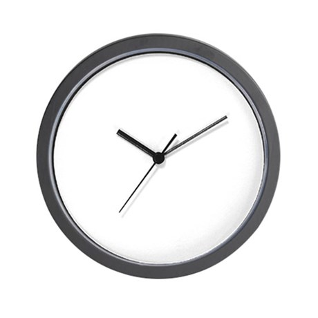 Blank White Wall Clock