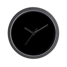 Blank Black Wall Clock