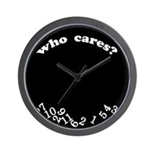 Who Cares Black Wall Clock