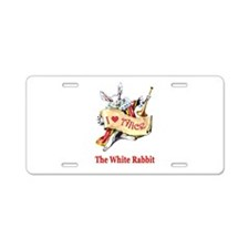 The White Rabbit Aluminum License Plate