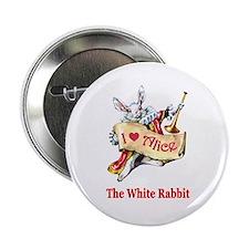 "The White Rabbit 2.25"" Button"