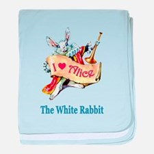 The White Rabbit baby blanket