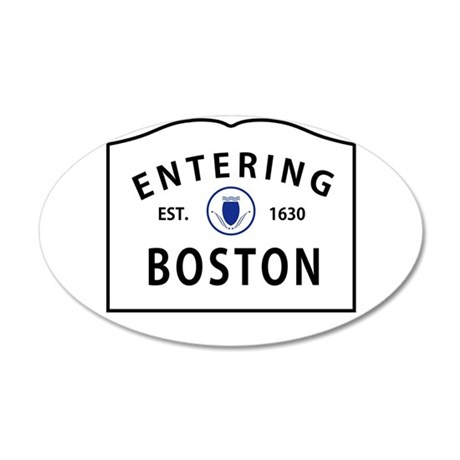 Boston 22x14 Oval Wall Peel