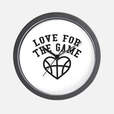Love for the game Wall Clock