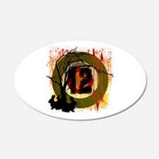 District 12 The Hunt 22x14 Oval Wall Peel