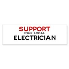 Support: ELECTRICIAN Bumper Car Sticker