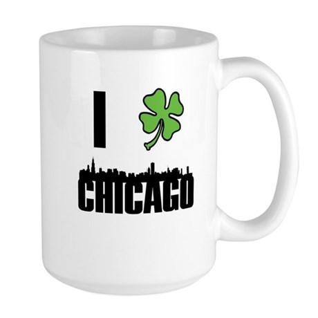 I Shamrock Chicago Large Mug