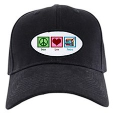 Peace Love Poetry Baseball Hat