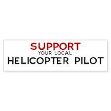 Support: HELICOPTER PILOT Bumper Bumper Sticker