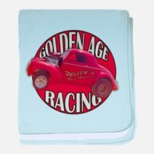 1941 Willys Race Red baby blanket