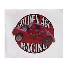 1941 Willys Race Red Throw Blanket