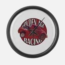 1941 Willys Race Red Large Wall Clock