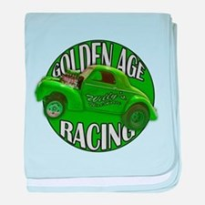 1941 Willys Gasser Lime baby blanket