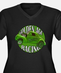 1941 Willys Gasser Lime Women's Plus Size V-Neck D