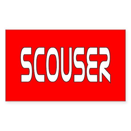 Red Scouser Rectangle Sticker