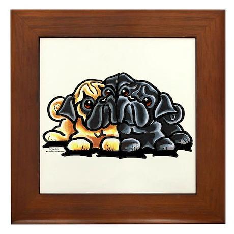 Love Pugs Framed Tile