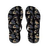 Black and fawn pug flip flop Accessories