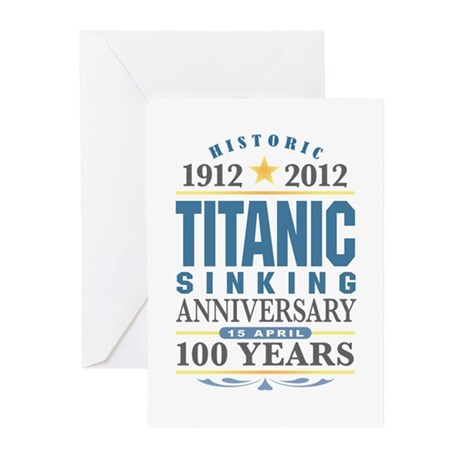 Titanic Sinking Anniversary Greeting Cards (Pk of