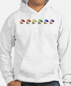 Rainbow Beach Chairs Jumper Hoody