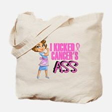 Kicked Cancer's Ass Breast Cancer Tote Bag